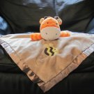 Circo Target Orange Chevron Giraffe Bumble Bee Brown Security Blanket Lovey Plush 13x13""