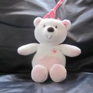 Carters Just One You White Pink Girl Teddy Bear Flower  #63017 Musical Crib Pull Toy 10""