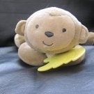 Carters Child of Mine Brown Tan Yellow Laying Monkey Bananas  #62080 Musical Crib Pull Toy 10""