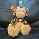 "Mary Meyer Taggies Cream Brown Polka Dot Monkey Lovey Plush 12"""