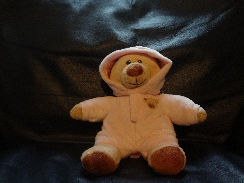 2015 ty pluffies pj bear pink pajama teddy bear lovey plush 10 u0026quot