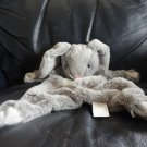 Kellytoy #7435 Gray Pink White Krinkle Bunny Rabbit Lovey Security Blanket 16""