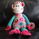 Douglas Cuddle Toy  Pink Turquoise Ladybug Flower Butterfly Monkey Lovey Plush 14""