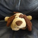 Gund Rosco#13006 Brown Tan Floppy Laying  Patch Puppy Dog Lovey Plush 11""