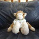 2001 Boyds Collection Baby Terry Bib Oooh Rattles Cream Tan Lovey Monkey Plush 13""