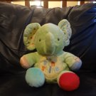 """Carters #49472 Green Leg Moving Musical You Are My Sunshine Elephant Crib Toy Plush 9"""""""