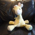 """Vintage Eden K/8/07 Yellow Pastel Spotted Waffle Thermal Musical Giraffe Lovey Plush 9"""""""