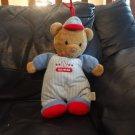 Carters 78064 Little All Star Baseball Uniform Cap Teddy Bear Crib Pull Toy Musical Plush