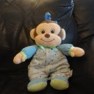 2010 Garanimals 82275 Brown Green Blue Monkey Musical Crib Pull Toy Brahms Lovey Plush