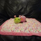 Graco Kids Line 99584 Pink Flower Lady Bug Security Blanket Lovey 13x13""
