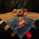 Mary Meyer Baby Taggies Puppy Dog Lovey Patchwork Tan Blue Red Security Blanket