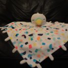 """Oh Joy Target Neon Speckled Shapes White Swan Bird Security Blanket Lovey 15x15"""""""