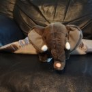 """My Banky My Name Is EeEe Small Gray Wooly Fur Silver Satin Elephant Security Blanket 14x14"""""""