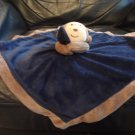 Carters One Size #27829 Navy Blue Brown Satin Rattle Monkey Security Blanket Lovey Plush 15x15