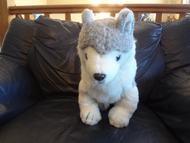 Vintage 1993 Ty Timber Siberian Husky Gray White Furry