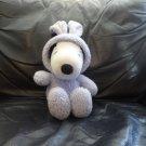 "Hallmark Peanuts United Feature Syndicate Purple Bunny Pj Snoppy Beagle Puppy Dog Lovey Plush 11"""