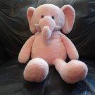 "2012 Animal Adventure Soft Pink White Elephant Lovey Plush 19"""