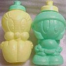 LOONEY TUNES BOTTLES OFMARVIN MARTIAN AND TWEETY BIRD