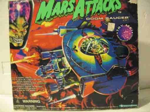 Vintage Mars Attacks Doom Saucer by Trendmasters MIB