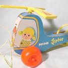 FISHER PRICE 1970 MINI-COPTER PULLTOY WITH ACTION SOUND