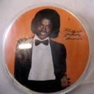 MICHAEL JACKSON CLOSEUP THRILLER PHOTO PIN W/ SIGNATURE