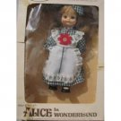 Walt Disney's Alice in Wonderland Doll, NRMIB, plastic with cloth dress.