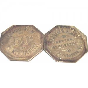 Antique Frontier Store Good for 50 Cents Trade Token.FREE USA SHIPPING!!