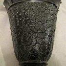 "Vintage black amethyst wall pocket about 5.75 "" tall,5.25"" top narrows to 1.5"""