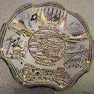 Vintage 1974 Worlds Fair glass souvenir ashtray various fair scenes on ashtray