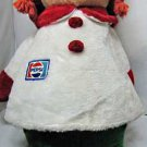 Vintage 1970s Pepsi advertising stuffed doll. This doll is about 29 inches tall,