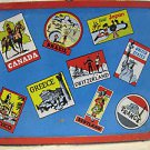 1980s Travel Sticker tin lithograph Lunchbox nice condition, clean inside & out!