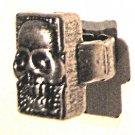 Heavy metal human grinning skull ring black shadowing MINT FREE USA SHIPPING !