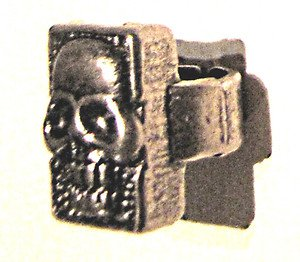 Heavy metal human grinning skull ring black shadowing MINT FREE USA SHIPPING !