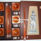 PRESENTATION NATURAL ROSEWOOD CHOPSTICK SET (6 pairs of chop sticks): KHON CASE - FREE SHIPPING