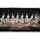 THAI SILK Large Silkscreen Wall Hanging SIAM MUSIC GIRLS #13 – FREE Shipping WORLDWIDE