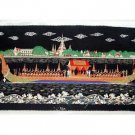 THAI SILK Large Silkscreen  Wall Hanging ROYAL BARGE #8 – FREE Shipping WORLDWIDE