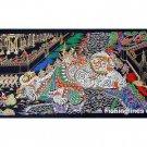THAI SILK Large Silkscreen  Wall Hanging GRAND PALACE KHON DEMON #6 – FREE Shipping WORLDWIDE