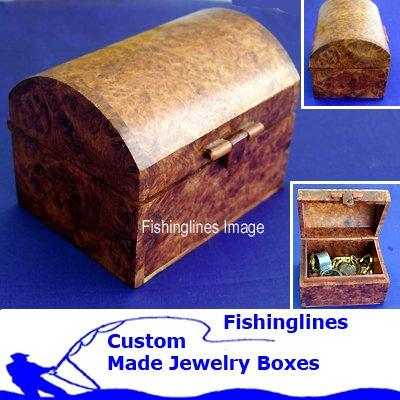 Exotic Macau Handcrafted Treasure Chest Jewelry Box � FREE Shipping WORLDWIDE