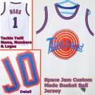 for a Bugs Bunny Space Jam Custom Jersey White #1 Mens Size Small