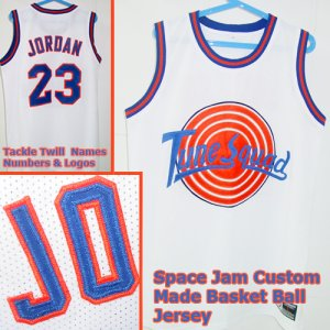 Michael Jordan Space Jam Custom Jersey White 23 Large