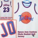 Michael Jordan Space Jam Custom Jersey White 23 XL