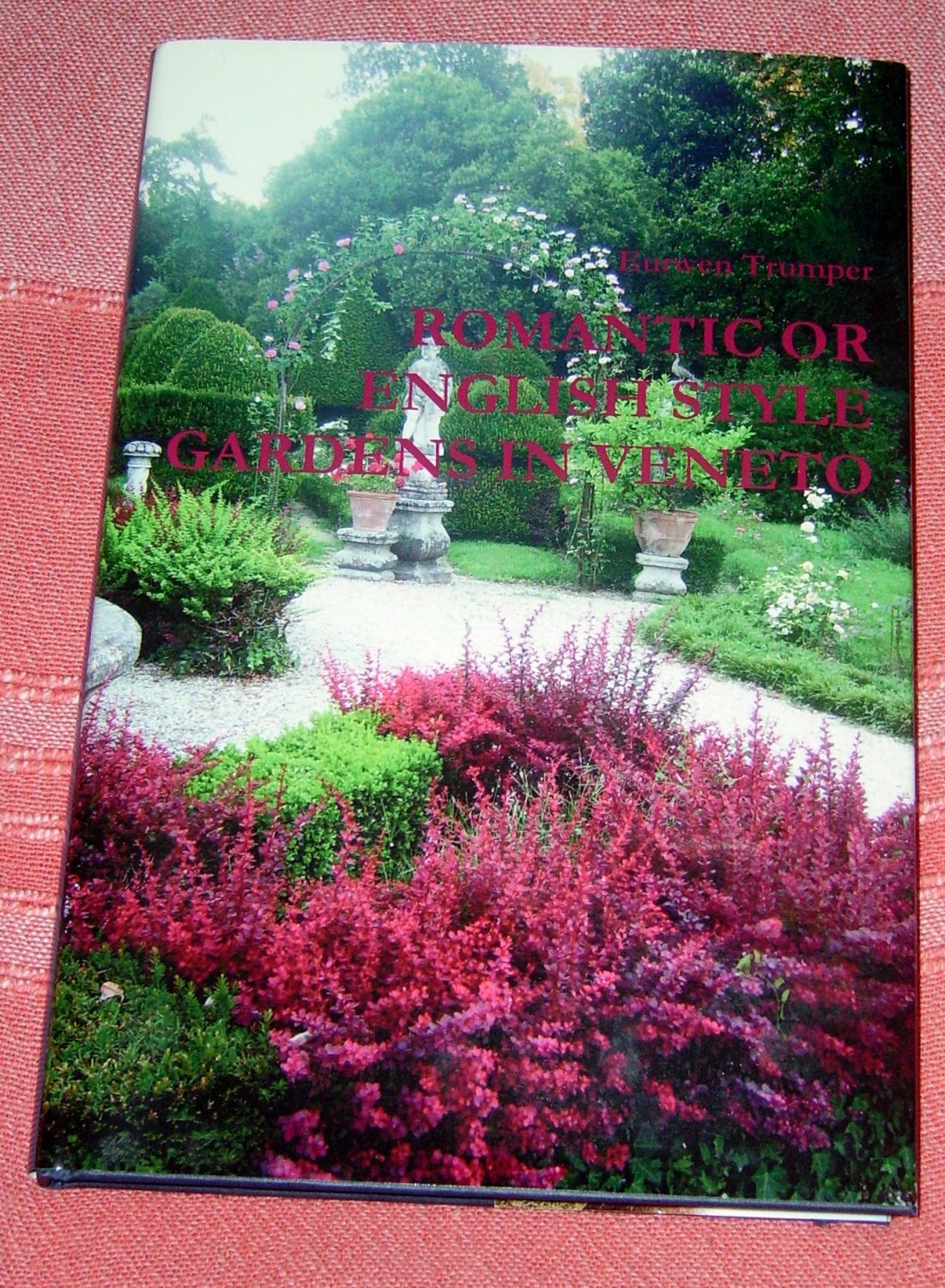 """Book titled """"Romantic or English style gardens in Veneto"""""""