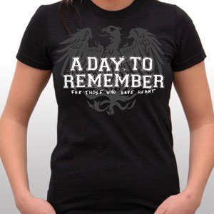 A Day to Remember Friends Girlie T-Shirt Size LARGE