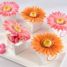 """Daisy Delight"" Gerbera Daisy Favor Box (Bright Orange) - Set of 24"