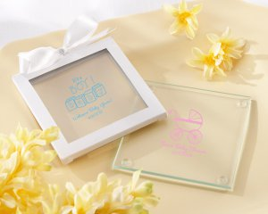 Personalized Glass Coaster (Set of 12) - $33.00 Set Up Fee