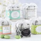 """Unexpected Treasures!"" Favor Tin with Pre-Tied Organza Bow (Set of 12)"