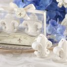 """Fleur-de-Lis"" Ceramic Salt & Pepper Shakers"