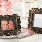 """Ornate"" Antique Gold Place Card Holder/Photo Frame"