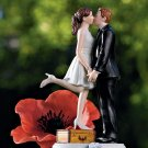 """""""A Kiss And We're Off"""" Couple Figurine"""