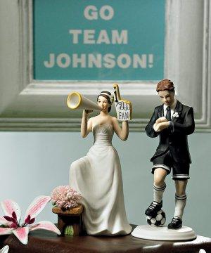 #1 Fan Cheering Bride & Soccer Groom - Sold Separately